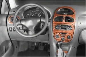 Peugeot 206  Dash Trim Kit 3M 3D 11-Parts