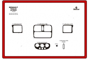 Renault Thalia Mk2 Dash Trim Kit 3M 3D 6-Parts