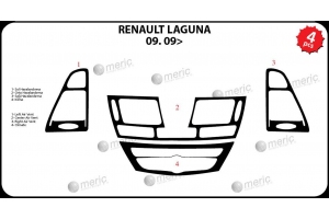 Renault Laguna Mk3 2009 up Dash Trim Kit 3M 3D 4-Parts