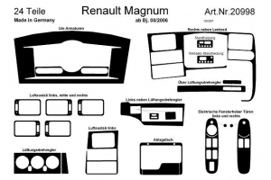 Renault Lorry Magnum 2006 up Dash Trim Kit 3M 3D 24-Parts