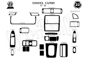 Toyota Camry XV20 12.97 - 12.99 Dash Trim Kit 3M 3D 24-Parts