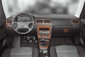 VW Golf Mk4 Dash Trim Kit 3M 3D 19-Parts