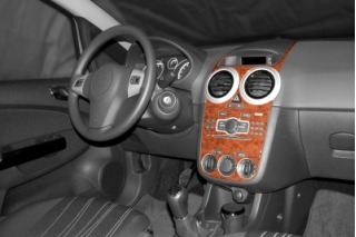 Opel Corsa D 2007 up Dash Trim Kit 3M 3D 13-Parts