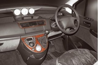 RHD Citroen C8  Dash Trim Kit 3M 3D 4-Parts