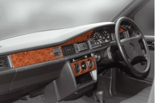 RHD Mercedes C W201 190E Dash Trim Kit 3M 3D 11-Parts