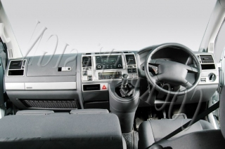 RHD VW T5 Transporter-Caravelle Climatronic Dash Trim Kit 3M 3D 31-Parts