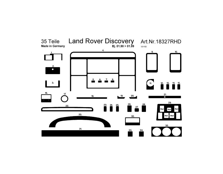 rhd land rover discovery 1 01 90