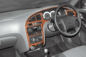 RHD Hyundai Elantra Mk3 XD/XD2 Dash Trim Kit 3M 3D 8-Parts