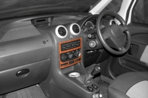 RHD Peugeot 1007  Dash Trim Kit 3M 3D 2-Parts