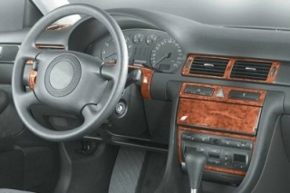 Audi A6 C5 Manual Transm. Dash Trim Kit 3M 3D 14-Parts