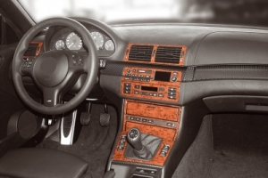 BMW 3 Series E46 Compact Dash Trim Kit 3M 3D 19-Parts