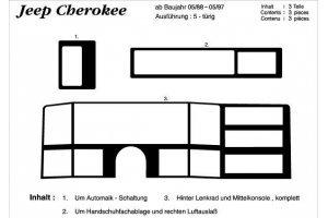 Jeep Cherokee Jeep Cherokee XJ 05.88-05.97 Dash Trim Kit 3M 3D 3-Parts