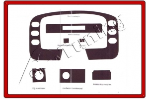 Ford Transit Mk4 Dash Trim Kit 3M 3D 7-Parts
