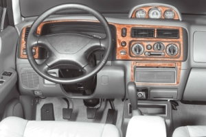 Mitsubishi Pajero Sport Mk2 Dash Trim Kit 3M 3D 12-Parts