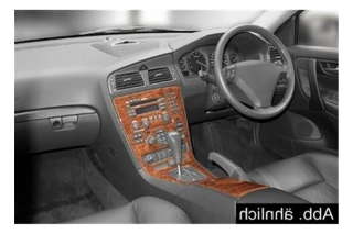 RHD Volvo S60  Dash Trim Kit 3M 3D 10-Parts