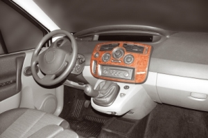 Renault Scenic Mk2 Dash Trim Kit 3M 3D 7-Parts