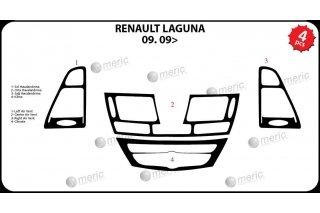 Renault Laguna Mk3 2009 up Dash Trim Kit 3M 3D 4-Parts